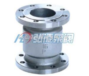 止回阀价格:H42H/W不锈钢法兰立式止回阀