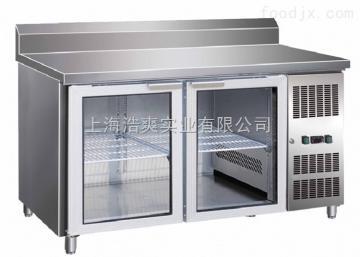 佛斯科厨房玻璃门不锈钢工作台