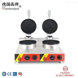 NP-600格子餅機雙頭華夫爐烤松餅機小吃設備