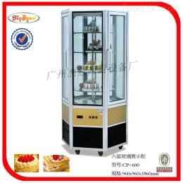 CP-600杰冠+六门面玻璃展示冷柜/蛋糕柜/保鲜柜/冰淇淋展示柜 冰柜 冷藏展示
