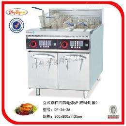 DF-26-2A杰冠+立式双缸四筛电炸炉/油炸锅/西厨设备/西式快餐设备