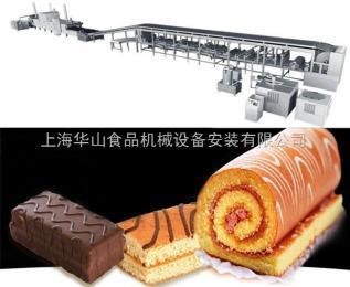 HSJ-1000大型食品厂中高档蛋糕生产彩友彩票平台,配隧道燃气炉,PLC全自动控制