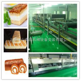 HSJ-1000全套蛋糕生产设备,可做?#34892;?#34507;糕、多层蛋糕、瑞士卷蛋糕等,上海
