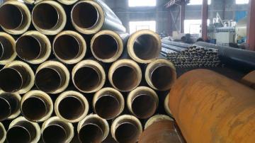 采暖直埋保温管厂家/聚氨酯供暖热水管道