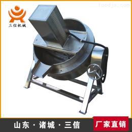 電加熱可傾式攪拌夾層鍋    保溫食品加工鍋