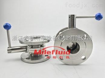 ML-DF卫生级不锈钢法兰蝶阀规格