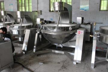 100L大型厨房电加热行星搅拌炒锅