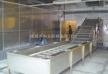 hy-01净菜加工流水线.大型蔬菜清洗设备