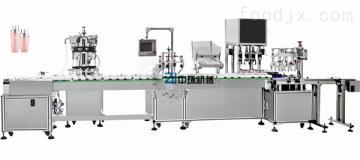 ZHSR-4C全自动日用品水乳膏灌装旋盖一体机