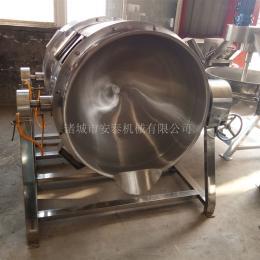 400L不銹鋼燃汽自動炒菜夾層鍋
