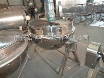 JCG供应300L全钢铁架电加热夹层锅 大型蒸煮搅拌夹层锅