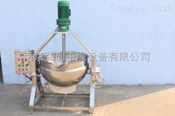 JCG供应300升不锈钢可倾式带搅夹层锅 电加热夹层锅 刮底搅拌夹层锅