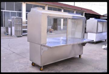 JR-200-2-G新疆喀什过环保碳烤无烟烧烤车多少钱餐饮