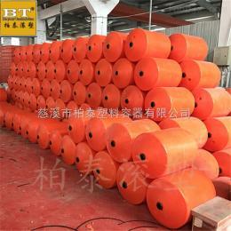 齐全美姑县电站拦污浮筒 水面自浮式塑料拦污浮排