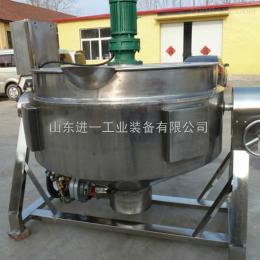 500L不锈钢倾斜式搅拌夹层锅导热油锅