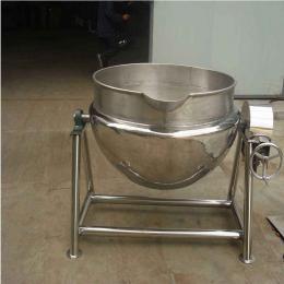 100L厂家直销不锈钢可倾蒸汽电加热夹层锅大型夹层锅煮羊肉快速蒸煮夹层锅