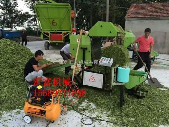 hf-5552曲阜  全自动玉米秸秆打包机厂家 青饲料圆捆机图片