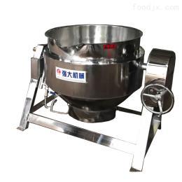 300可倾式夹层锅 蒸汽加热夹层锅 馅料炒锅 原料蒸煮 香菇酱