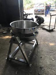 600强大制造蒸汽加热夹层锅 304不锈钢刮底搅拌夹层锅