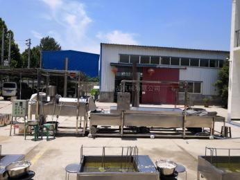 FTDB-200江西赣州特产全自动豆巴油炸生产线豌豆饼机