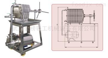 DL-150武漢京榜DL 系列多層板框過濾器