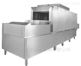 YGXW-007厂家定制学校 工厂 用长龙式不锈钢洗碗机