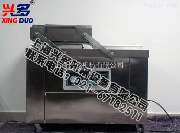 厂家供应兴多600型双室内抽真空包装机 全自动食品不锈钢双室真空包装机