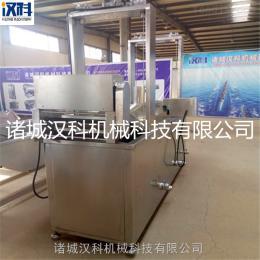 XH-3500连续式油炸生产线 鱼仔油炸生产线 豆泡油炸生产线