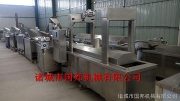 GB-5000国邦供应蜜三刀油炸流水线 连续式油炸生产线 加工定制自动化程度高