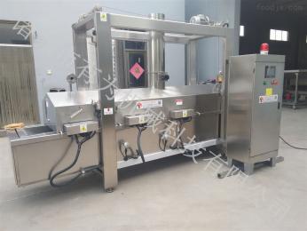 YWDZ-3000全自动网带式油炸蔬菜生产流水线