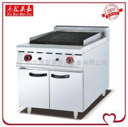 GB-989立式燃气火山石烧烤炉连柜座