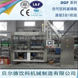 DGF 14-12-5碳酸饮料灌装生产线全自动玻璃瓶装可乐灌装机组