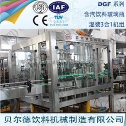 DGF 14-12-5碳酸飲料灌裝生產線全自動玻璃瓶裝汽酒灌裝機組