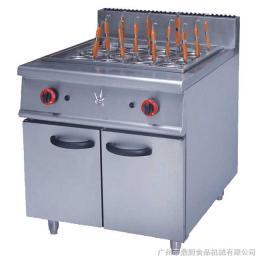 GH-988不锈钢落地式燃气煮面炉连柜座立式组合炉