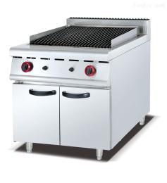 GB-989落地式燃气火山石烧烤炉连柜座立式组合炉