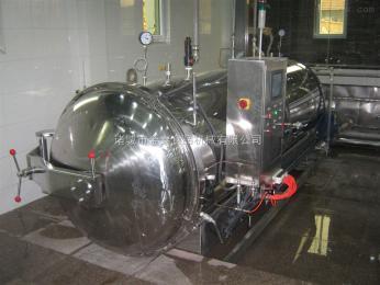 1500-4000厂家直销全不锈钢蒸汽加热电汽半自动罐头包装 塑料包装杀菌锅