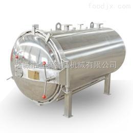 900-1800不锈钢自动门奶茶饮料侧喷式带换热器杀菌锅