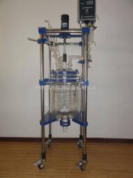 北海双层玻璃反应釜/双层玻璃反应器价格,生产厂家