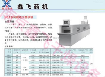 HDA-1型遠紅外隧道滅菌烘箱