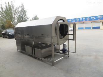 SZ3000包装袋快速清洗机、滚筒式毛辊喷淋清洗机