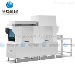 XZ-3000食堂大型餐馆高效全自动长龙式洗碗机