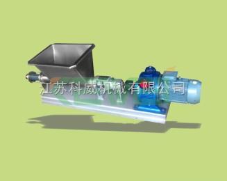 海南水果输送泵TG型强制喂料泵