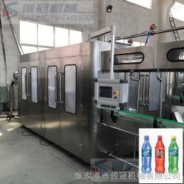 DGCF18-18-6雪菲力盐汽水灌装机 全自动三合一柠檬味盐汽水灌装生产线