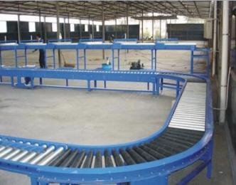 滚筒输送机宁波生产的滚筒输送设备 线和转弯滚筒线不
