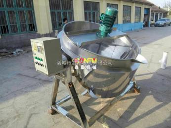 XF-500厂家直销:不锈钢蒸煮锅 电加热可倾式拌料夹层锅