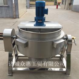 100L不锈钢燃汽自动炒菜夹层锅