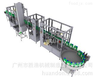 机油灌装贴标生产线机油灌装旋盖贴标包装生产线