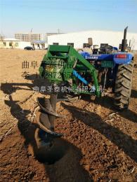 ST-40新型拖拉机带动挖坑机视频 圣泰彩友彩票平台