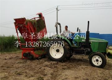 ST-1300青贮玉米收割机视频  青贮饲料回收机价格