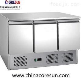 厂家直销不锈钢餐饮设备三门工作台冷藏保鲜沙拉台|S903 TOP